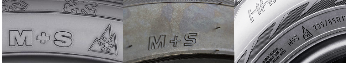 m and s winter truck tyre markings